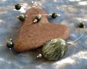 Green Goddess Seraphenite Illusion Necklace