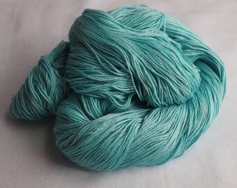 Sock Yarn, Organic Cotton and Bamboo, Robin's Eggs, blue
