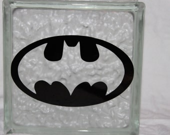 Batman DIY decal for glass block