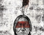 Sitting Bull - 24x36 inch Art Print