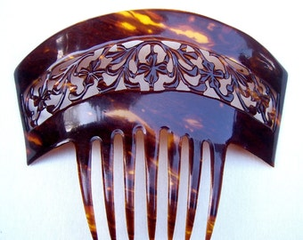Spanish mantilla comb faux tortoiseshell mid century headdress headpiece decorative comb hair accessory