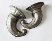 antique metal mold french metal mold horn of plety