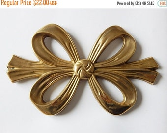 SALE 20% brass bow large brass bow pot stand