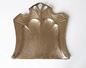 vintage crumb tray vintage art deco metal decoration