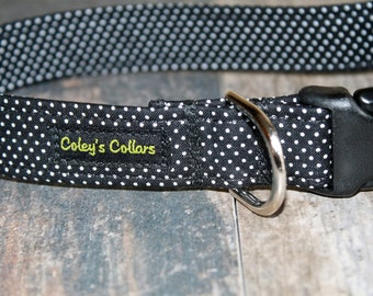 "Dog Collar ""The Pin Dot in Black"""