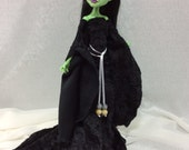 Black Medieval Gown Set Set for Monster High Doll For Nefera