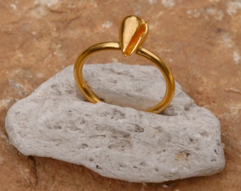 Sea Shell Ring, Gold shell ring, Summer jewelry