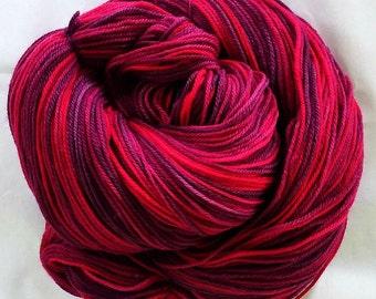 """SW Merino/Cashmere/Nylon Hand Dyed Yarn  """"Bing Cherries"""""""