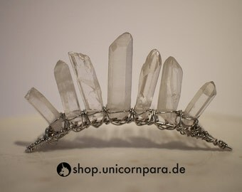 Petite Natural Clear Quartz Chunky Crystal Point Tiara