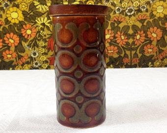 70s Vintage Retro Hornsea Pottery Bronte Pattern Pepper Pot 1976