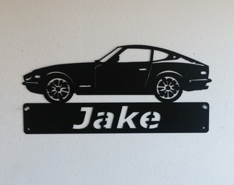 Datsun 280Z - Personalized Metal Sign - Metal Wall Art - Garage Sign - Satin Black - Man Cave