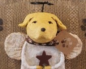 Yellow Lab Angel,OOAK, hand-sculpted from papier mache, YELLOW LAB Angel