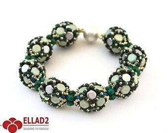 Tutorial Bea Bracelet - Beading tutorial with Honeycomb beads and Miniduo beads