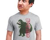 godzilla t-shirt japanese shirts japan shirt retro look vintage feel soft mens shirt guys t shirt gift for movie buff cotton graphic print