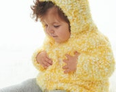 Knitting Pattern Baby Hoodie Instant Download Knitting Pattern  Knitted Baby Sweater