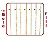 Dainty Gold Filled Chain for Customized Necklace, Choker, Bracelet, Anklet Jewelry