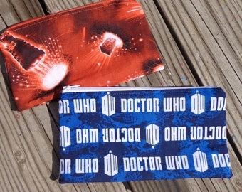choose your favorite DOCTOR WHO pouch style