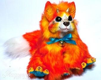 "Dragon Fox - Orange, White and Blue - ""Firefox"""