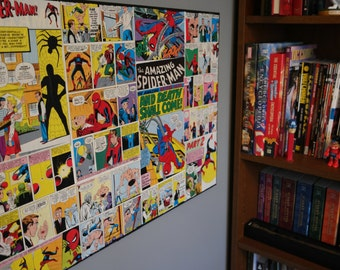 "Marvel Spiderman Collage Wall Art 18"" x 24"" Canvas Spiderman Orgins"