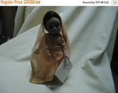 """Valentines Sale Vintage Madame Alexander India 7"""" inch Doll with Stand, collectable"""