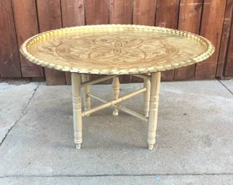vintage moroccan style tray table