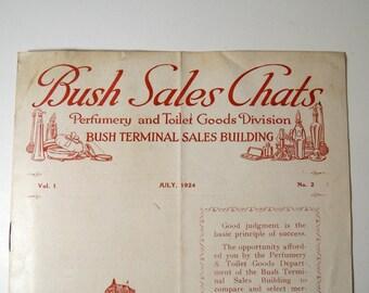 Vintage 1920s Perfumery & Toilet Goods Catalog