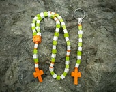 First Communion Gift Special-Lego Rosary and Lego Chaplet - The Original Catholic Lego Rosary - White and Green Catholic Rosary