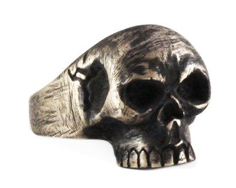 Rustic Skull Ring Man Jewelry Personalize Rings