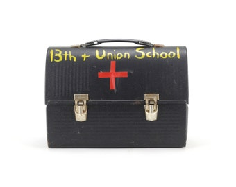 vintage industrial school first aid case