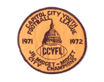 1970s Youth Football League Capitol City Champions Patch