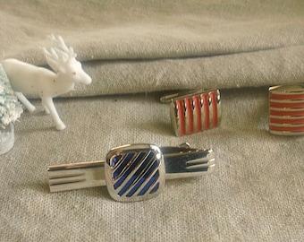 Vintage Cufflinks and TIE Bar Set