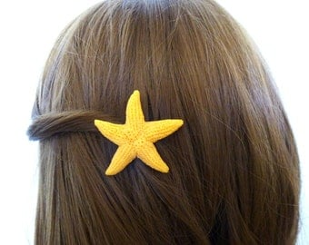 Faux Starfish Hair Clip Mermaid Barrette Fake Artificial Animal Friendly Ariel Costume Destination Beach Wedding Accessories Summer Gift