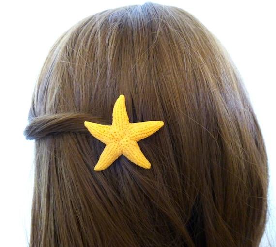 Faux Starfish Hair Clip Mermaid Barrette Fake Artificial Animal Friendly Ariel Costume Destination Beach Wedding Accessories Summer Gift