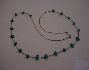 Vintage Turquoise Necklace  16 -206