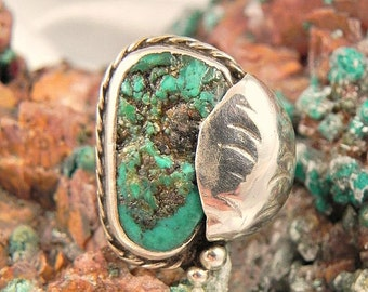 Dead Pawn Turquoise Sterling Ring