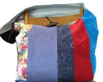 ONE OF a KIND - Crossbody Hobo Bag - Over Shoulder Bag - Slouch Bag - Handmade Bag - Crossbody Bag - Patchwork Bag - Sling Bag - Boho Bag