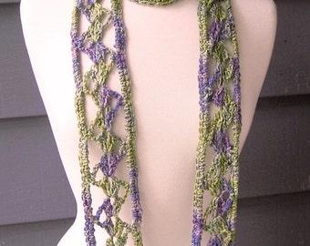 PATTERN S-014 / Crochet Pattern ... Addell Scarf ... DK 110 yards