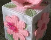 Pink Flower/Butterfly Tissue Box Cover