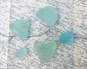 Pastel Sea Foam Sea Glass Natural Irish Sea Glass Light Green Sea Tumbled Glass Pieces Collected in Ireland