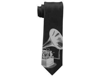 Victorian Phonograph Necktie