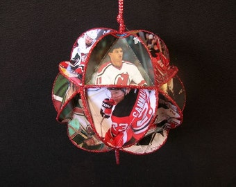 Hockey Card Ornament - New Jersey Devils Ice Hockey NHL Decoration
