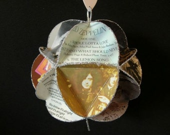 Led Zeppelin Album Cover Ornament Made Of Record Jackets  -  Robert Plant, Jimmy Page