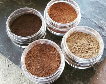 Eyebrow Mineral Powder//  Vegan Organic Mineral makeup for Eyes // Toxin & Cruelty Free Plant Based Mineral Beauty // Gifts for Her