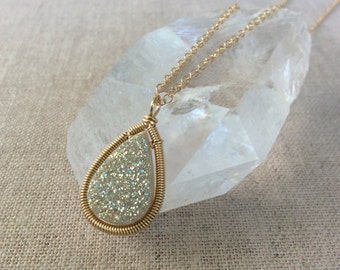 14K Goldfill & Druzy Necklace - Select Your Own Druzy