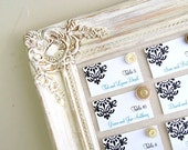 Vintage Wedding Decor Seating Chart Wedding MAGNETIC BOARD Seating Cards Decorative Bulletin Board Wedding Ideas Rustic Wedding Decor Ivory