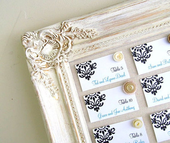 Vintage Wedding Decor Seating Chart Wedding MAGNETIC BOARD Seating Cards Decorative Bulletin Board Wedding Ideas Rustic Wedding Decor Ivory