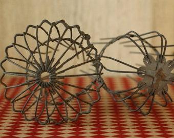 Industrial Vintage Gutter Gaurds, Vintage Wire Metal Cage, Wire Garden Armature, Antique Metal Collectible, Genuine Antique Industrial