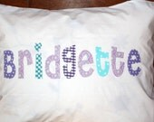 Girl's Personalized Pillow case custom name applique unique birthday gift idea slumber party pillowcase girls bedding nap mat cover kids