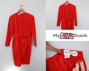Vintage Red Dress By Nipon Boutique