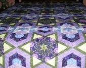 Stack 'n Whack Sunset Pattern KING Size Quilt (Purple)